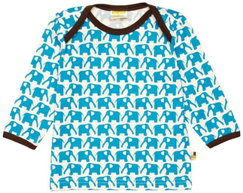 Loud + Proud Unisex - Baby Sweatshirt 205, Gr. 62/68, Türkis (Aqua) -