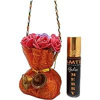 Pamtek Hanging Organic Car Air freshener & Perfume with 1-Year Life (Merry)