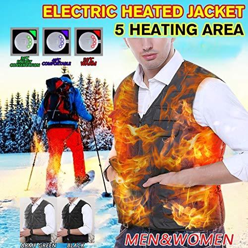 Dasongff Beheizte Weste USB Lade Heizung Vest Waschbar Gilet Winter Warme Thermische Beheizbare Kleidung Für Outdoor Camping Wanderung Jagd Unisex Weich Weste