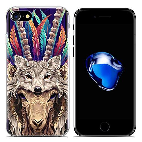 Easbuy Cartoon Tier Handy Hülle Soft Silikon Case Etui Tasche für iPhone 7 Smartphone Cover Handytasche Handyhülle Schutzhülle Mode 5