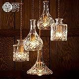 JJ Moderne LED Pendelleuchten Lampe im europäischen Stil American crystal glas Flasche verzierten Vasen Glas geätzt brennen Kronleuchtern, a,220V-240V