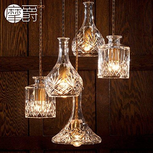JJ Moderne LED Pendelleuchten Lampe im europäischen Stil American crystal glas Flasche verzierten Vasen Glas geätzt brennen Kronleuchtern, a,220V-240V - Tiffany-glas-vase