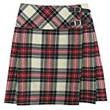 Tartanista - Schottischer Mini-Kilt mit Lederriemen - Dress Stewart 51 cm - EU42