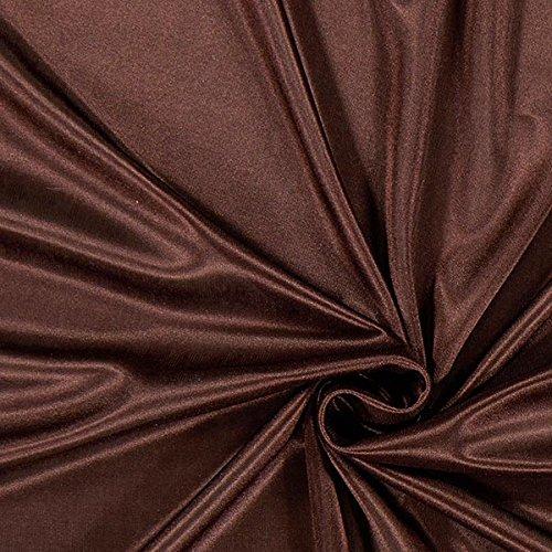 Fabulous Fabrics Futterstoff Charmeuse - braun - Meterware ab 0,5m - zum Nähen von Futter, Abend- und Partymode und Tops (Stoff Bademode Futter)