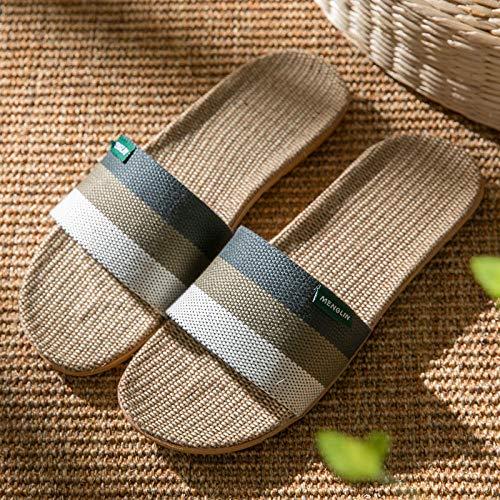 Hausschuhe Acupoint Paar Leinen Hausschuhe Indoor Wear Toe Großhandel @ Grey_44-45 -