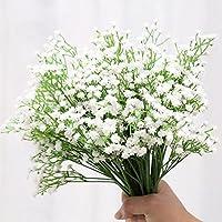 Meiwo 5 Pcs Real Toque Látex Artificial Gypsophila Paniculata Flor Para El Boda Casamiento Decoración Arreglo