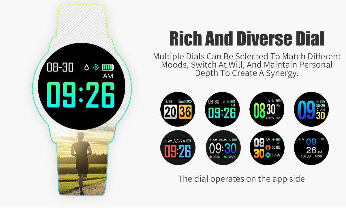 Adsvtech Smartwatch, Impermeable Reloj Inteligente Mujer Hombre, Pulsera Actividad Inteligente Reloj Deportivo Reloj… 5