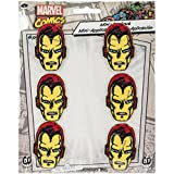 Retro IRON MAN Set, Officially Licensed Marvel Comics, High Quality Iron-On / Sew-On, 1.1' x 1.625' Embroidered PATCH PIéCE