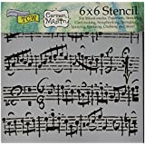 Crafters Workshop Plastic Template 6-inch x 6-inch Sheet Music