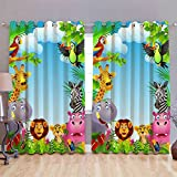 Digital Print Curtains for Window Eyelet Curtains 1 Pc only, Size -5x4 Feet