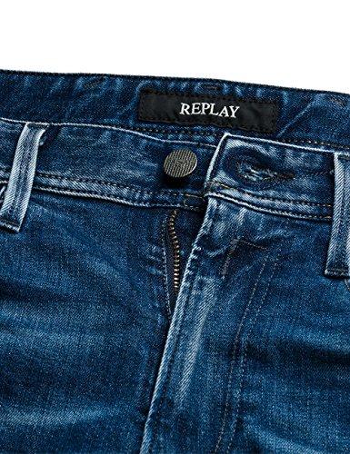 Replay Herren Jeanshose Anbass Coin Zip Blau (Bright Blue Denim 7)