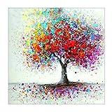 MXJSUA 5D Diamant Malerei volle Runde Bohrer Kits f¨¹r Erwachsene eingef¨¹gt Stickerei Kreuzstich Kunst Handwerk f¨¹r Home Wall Decor bunten Baum 12 x 12 Zoll