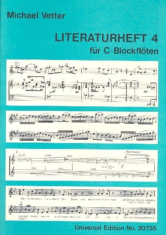 Blockflötenschule - Literaturheft Band 4: für C-Blockflöte