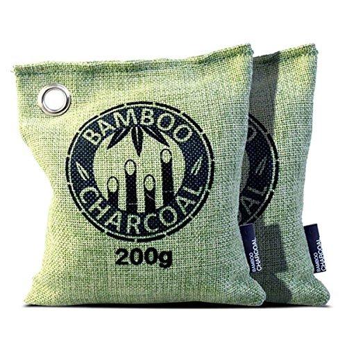 Bambus anthrazit Taschen, Natural Parfum Lufterfrischer, 2Stück (Sicher Feuchtigkeit Absorber)