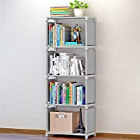 Sterling Book Shelf for Home Library, Book Stand, Book Rack for Study Room, Book Stand Shelf 4 Layer Grey Color 126 x 30…