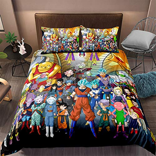 ZHYY 3D lecho Dragon Ball Imprimir Duvet Cover Set