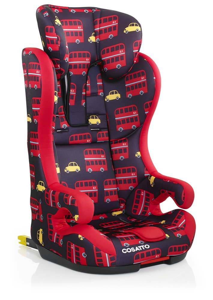 Cosatto Hubbub Isofix Car Seat Group 1 2 3, 9-36 kg, Hustle Bustle Cosatto Hubbub's that exceptional creature - a group 123 car seat with ISOFIX; this means you can just click and go-no reinstalling; suitable from 9 kg to 36 kg (group 123) Hubbub incudes patented five point plus anti-escape system, reduces harness escapes by 90 percent Side impact protection, with six position headrest; hubbub grows with your child; out pop-off squishy seat liner grows too; it is also reversible 3