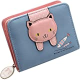 PALAY® Small Wallets for Women,Wallet for Women Stylish Latest PU Leather Coins Zipper Pocket Purse for Girls with Rabbit-Sha