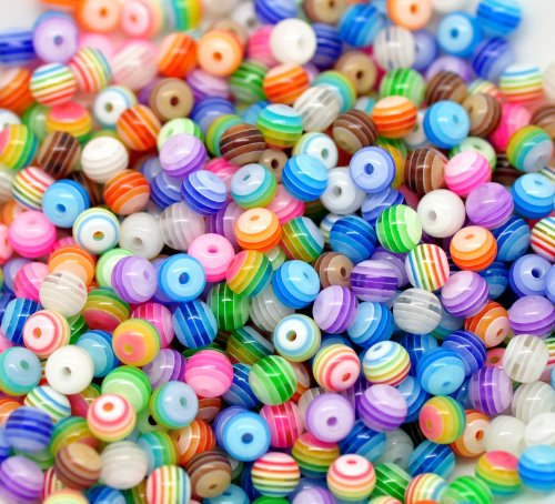 multicolour-lacrylique-raye-des-perles-spacer-beads-6-mm-environ-200-pieces