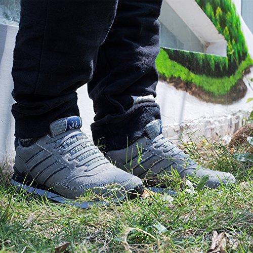 Homer No Tie Shoelaces für Kinder und Erwachsene Wasserdichte Silikon flache elastische Sportlauf Schnürsenkel mit Multicolor für Sneaker Stiefel Brettschuhe und Freizeitschuhe Kid Size Gray