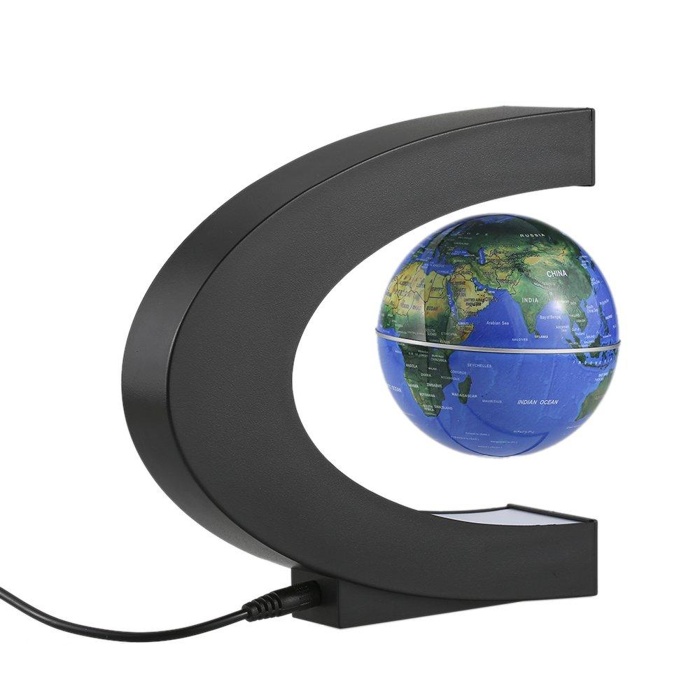 Globo Levitazione Magnetica C Forma di Sfera con LED Galleggiante Globe Idee Regalo per lInsegnare e Decorazione della Ufficio Casa