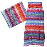 Pareo Streifenmuster bunt 100 x 180 cm Sarong Baumwolle Batik Design Strandtuch Wickelkleid