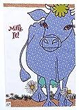 MUCCA BLU STROFINACCIO di MOLLYMAC Bella Cucina Home Decor. Grazie a te regalo, Matrimonio, Compleanno, salvietta Natalizia. Panno di Cucina Colorato Canovaccio - Made in United Kingdom - 100% cotone - 71 x 46 mm - Milk It Blue Cow