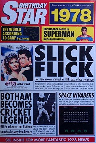 1978tarjetas de cumpleaños–1978DVD noticias documentales y año Tarjeta de felicitación
