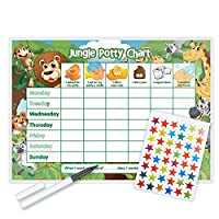 Funky Monkey House Jungle Potty Training Reward Chart (including FREE Star Stickers and Pen)