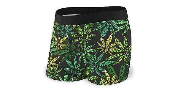 Web--ster Slip da Uomo S Boxer Slip Marijuana Seamless Pattern Vector Mutande Mutandine