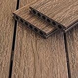 WPC Terrassendiele braun Holzoptik witterungsbeständig Wendediele Sunlight Antigua