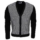 Search : Relco Classic Retro Black and White Checkerboard Cardigan