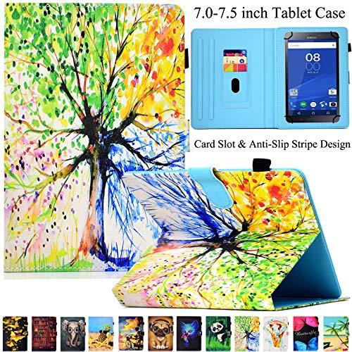 Universal Tablet-Schutzhülle, Artyond PU Leder Multi-Winkel Ständer Hülle mit Kartenschlitzen für Android, Windows, Kindle, Galaxy Tab und andere 17,8-7,5 Zoll Tablet, bunt - 7-zoll-kindle Für Ständer