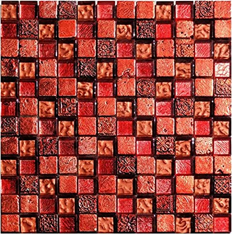 1 Netz Ornamentmosaik Lava Steingröße 2,3x2,3cm