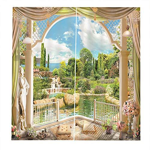 VCB Windowside Lakeside 4 Vorhänge Home Fashion Mix & Match Blackout Vorhang-Set - Mehrfarbig