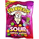 Warheads Sour Chewy Cubes, 4er Pack  (4 x 141g )