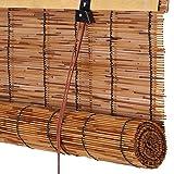 WENZHE Bambusrollo Fenster Sichtschutz Rollos Holzrollo Bambus Raffrollo Schilf Stroh Heben Schattierung Atmungsaktiv Wasserdicht Retro, 6 Stile, Größe Anpassbar (Farbe : 3#, Größe : 85x185cm)