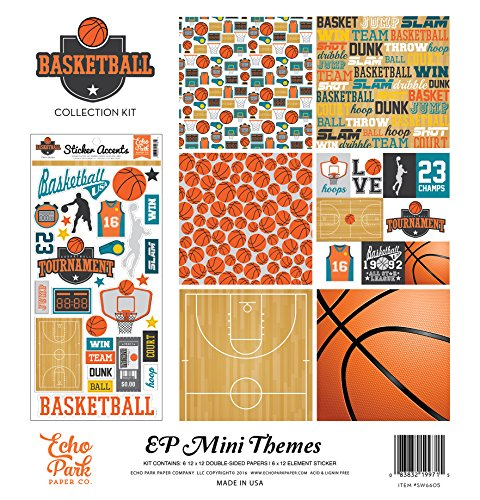 Scrapbooking Sticker Basketball (Echo Park Paper Collection Kit 12 Zoll x 12-inch-Basketball, andere, Mehrfarbig)