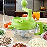 Pinkdose® Hand Held Manual Chopper Food Machine Quick Pull Mincer Mixer Blender For Fruits Vegetables Nuts Herbs Onions Salad Processor