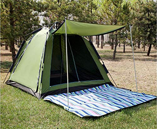 LIMQ Pop Up Zelt Wurfzelt 2 3 4 Personen Mit Kuppelzelt Campingzelt Vorraum UV Schutz Wasserdicht Für Outdoor Sport Camping Reisen Strand,Green2