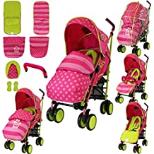 iSafe Stroller - Mea LUX Design Complete With Footmuff Headhugger, Raincover, Bumper Bar