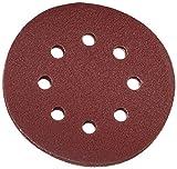 YT YATO 83453-17-Dischetti abrasivi in velcro 8 fori schienale c 125 mm, grana 80, 5pcs