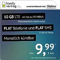 handyvertrag.de LTE All 10 GB - monatlich kündbar (Flat Internet 10 GB LTE mit max. 50 MBit/s mit deaktivierbarer…