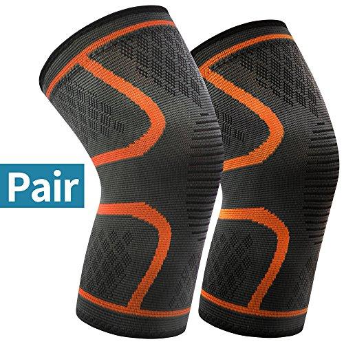 Arteesol Kniebandage 1 Paar (M L XL) Knieschoner Männer und Damen Anti-Rutsch Elastisch Atmungsaktiv Knieschützer für Sport Fitness Kraftsport Volleyball Arthritis Laufen …
