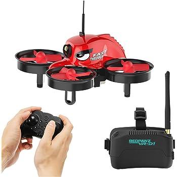 REDPAWZ Télécommande de Haute Technologie RTF Mini FPV Racing-Band Drone Équipé d'une caméra en Direct 1000TVL FOV 120 ° Grand Angle 3 Pouces Vogues Lunettes One Key Return