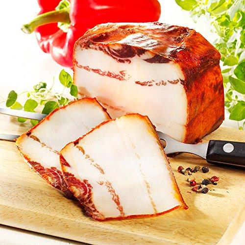 Wollschwein Paprika Speck, im Stück