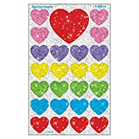 Sparkle Heart Stickers, Non-Toxic, 100/CT, Ast