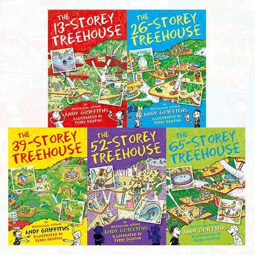 Treehouse Books Collection Andy Griffiths 5 Books Bundle (The 65-Storey Treehouse, The 52-Storey Treehouse, The 39-Storey Treehouse, The 13-Storey Treehouse, The 26-Storey Treehouse)