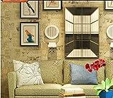 ZQHXW Sellos Fondos de periódico Nostálgico Artes Retro Fondos de Tela sin Tejer Fondos de Fondo de TV de Dormitorio 10 * 0.53 (M) (Color : Beige)