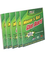 ssimpex Mouse Insect Rodent Lizard Trap Rat Catcher Adhesive Sticky Glue Pad-Non Poisonous Non Toxic Odourless Rat Terminator (Set of 5)